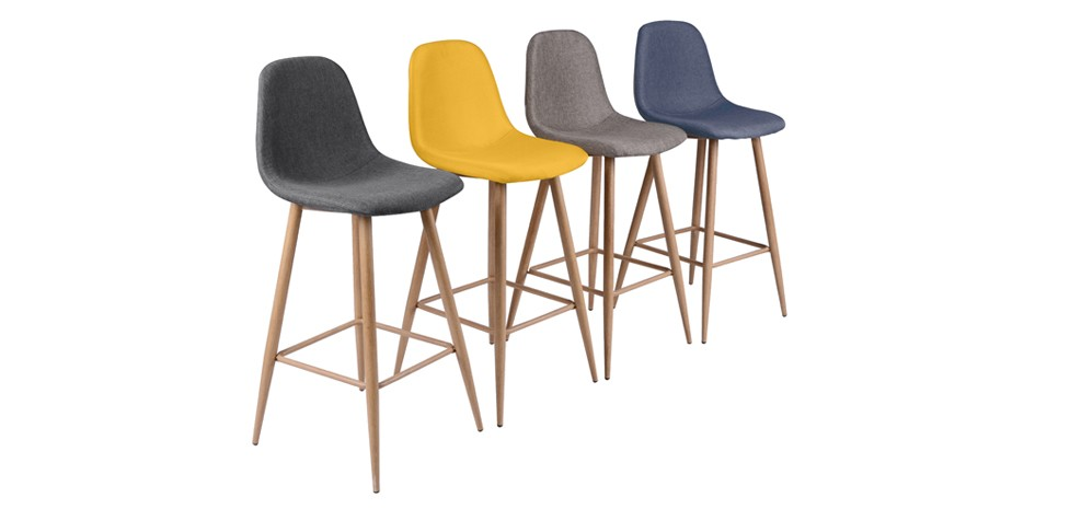 tabouret de bar fredrik jaune lot de 2 commandez nos. Black Bedroom Furniture Sets. Home Design Ideas