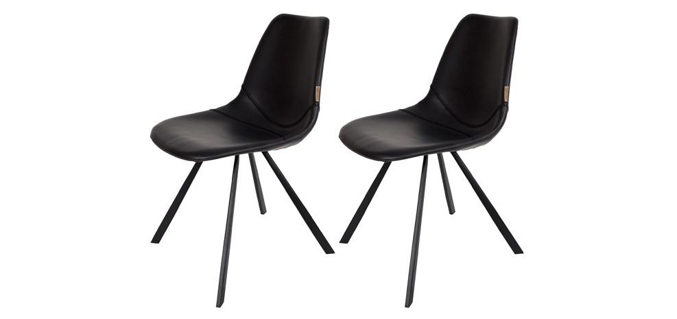 chaise franky noire commandez nos chaises franky noires design prix d 39 usine rdv d co. Black Bedroom Furniture Sets. Home Design Ideas