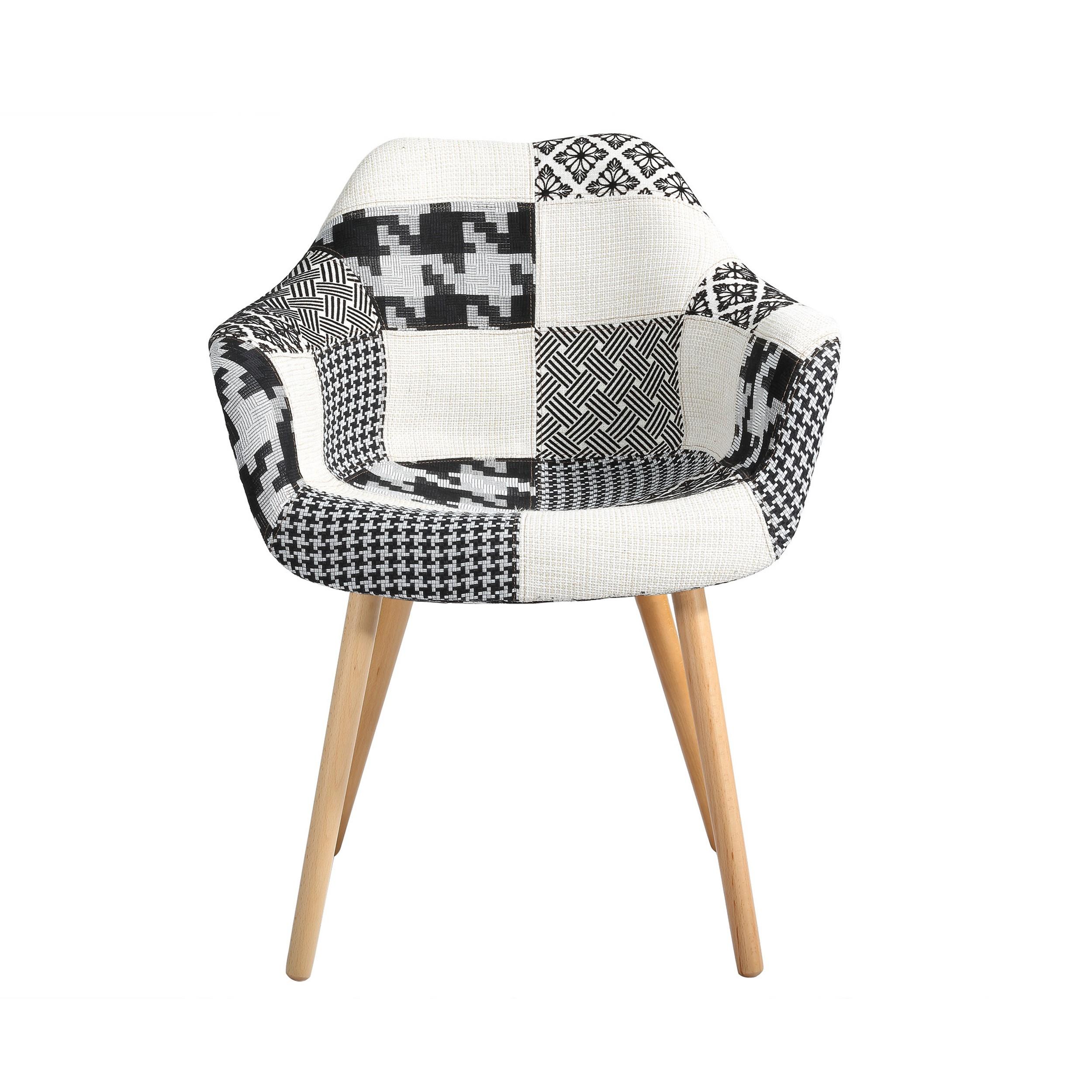 Chaise anssen patchwork grise achetez les chaises anssen for Chaise petit prix