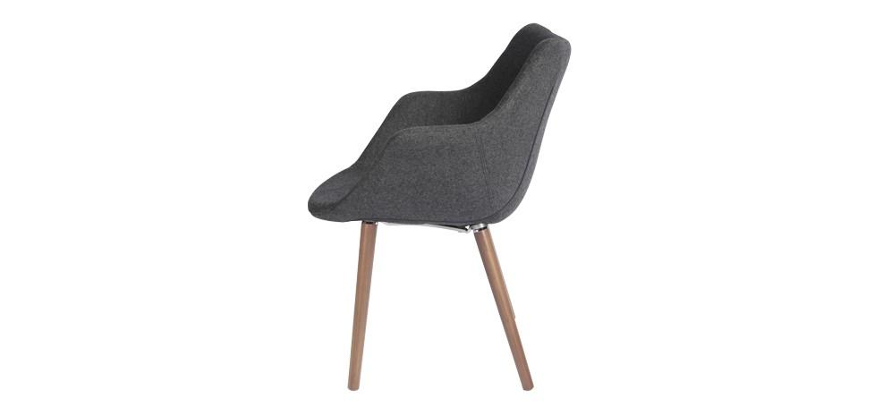Chaise tissu grise commandez nos chaises en tissu grises for Chaise 1er prix