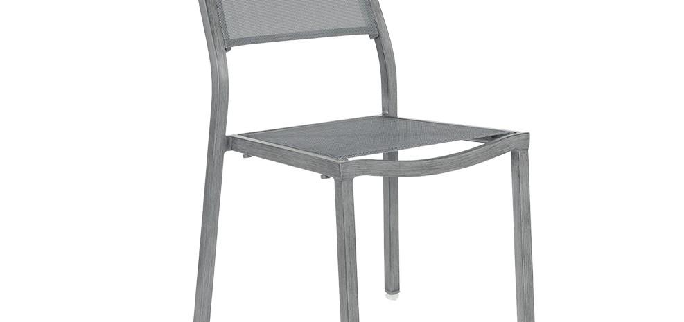 Chaise roma grise lot de 2 commandez nos chaises roma for Lot de 6 chaises grises pas cher