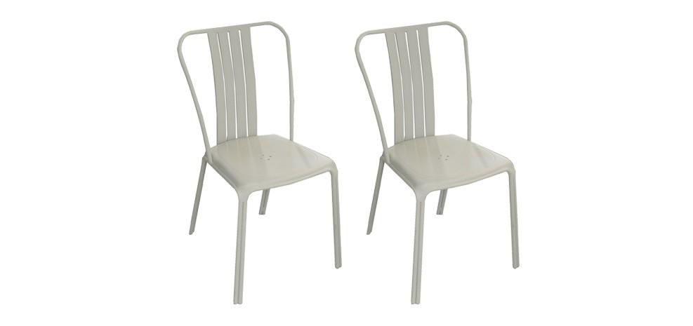 Chaise de jardin Azuro grise (lot de 2) : commandez nos lots de 2 ...