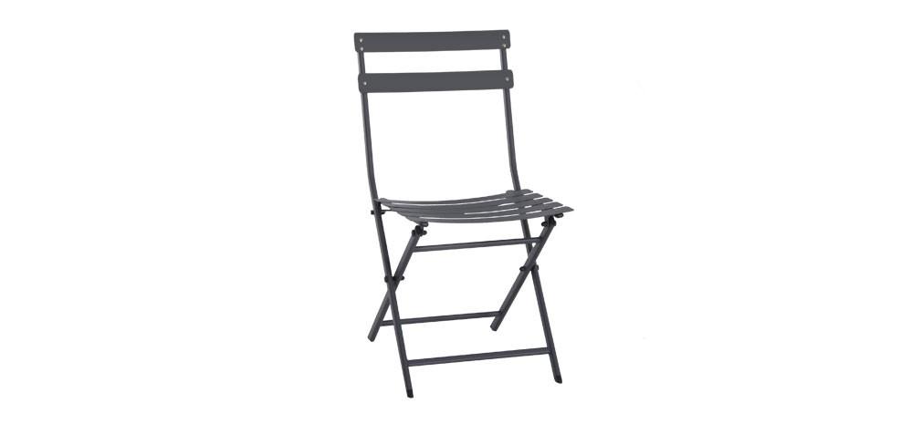 chaise de jardin balcony grise optez pour nos chaises de. Black Bedroom Furniture Sets. Home Design Ideas