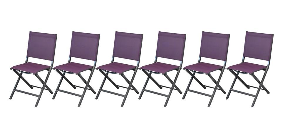 Chaise de jardin terra violette lot de 6 commandez nos chaises de jardin terra violettes for Chaise de jardin inox