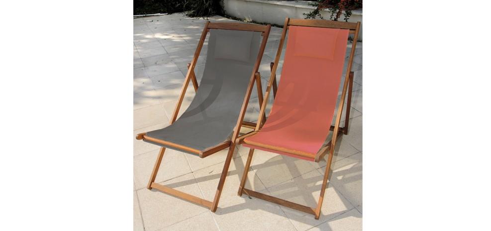 Chaise longue en bois orange essayez nos chaises longues for Transats chaises longues