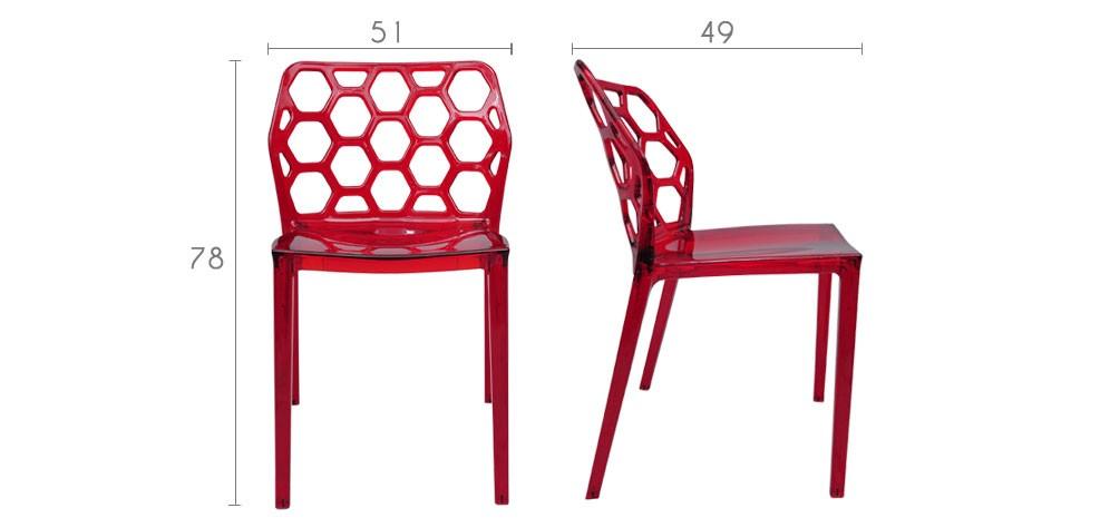 chaise en plexi rouge d couvrez nos chaises rockets rdv deco. Black Bedroom Furniture Sets. Home Design Ideas