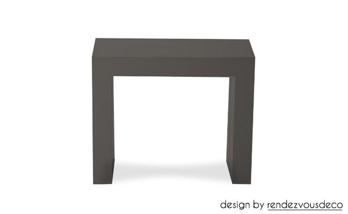 Console extensible laqu e grise fondez pour nos tables grises rdv d co - Console extensible laquee ...