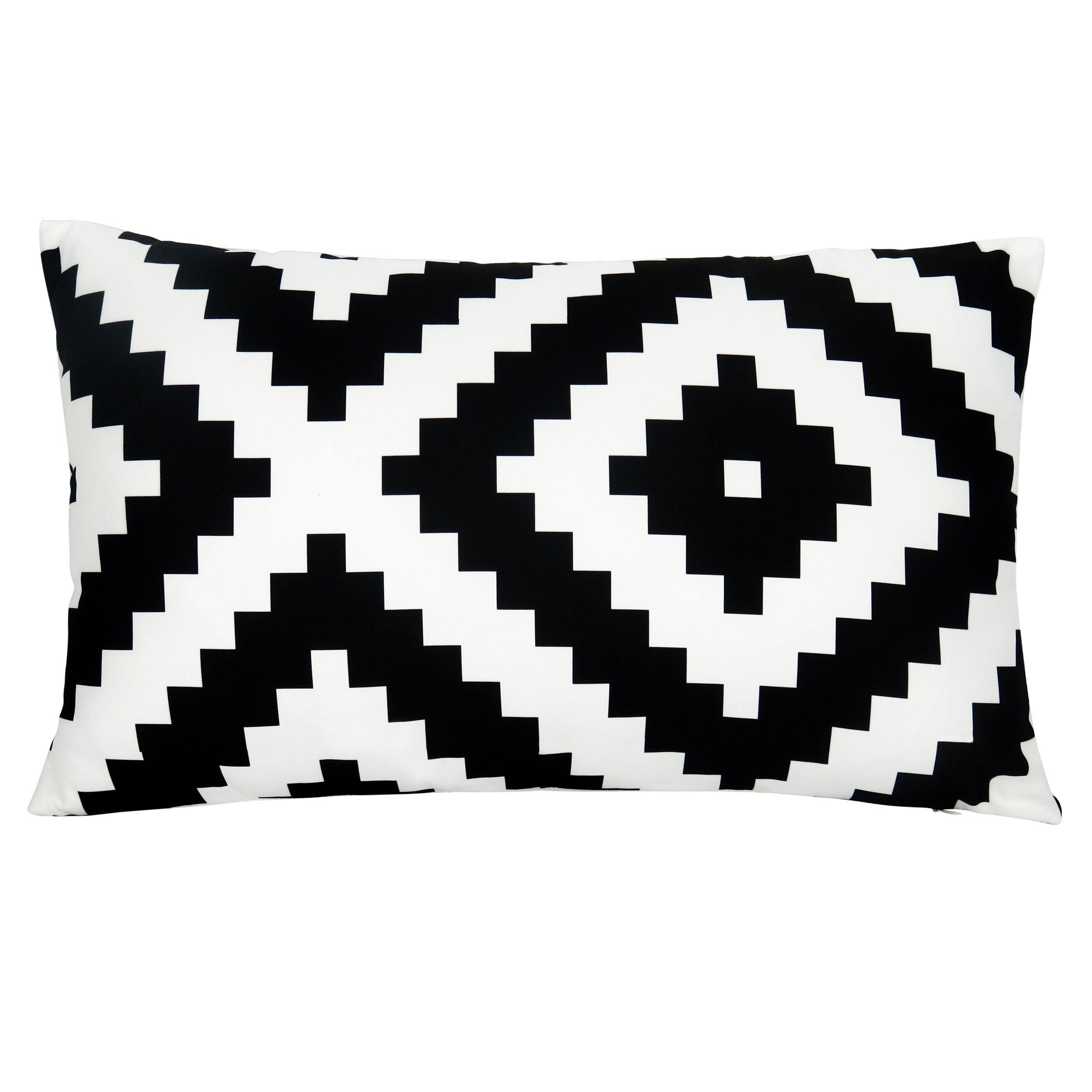 coussin black and white choisissez les coussins black and white design rdv d co. Black Bedroom Furniture Sets. Home Design Ideas