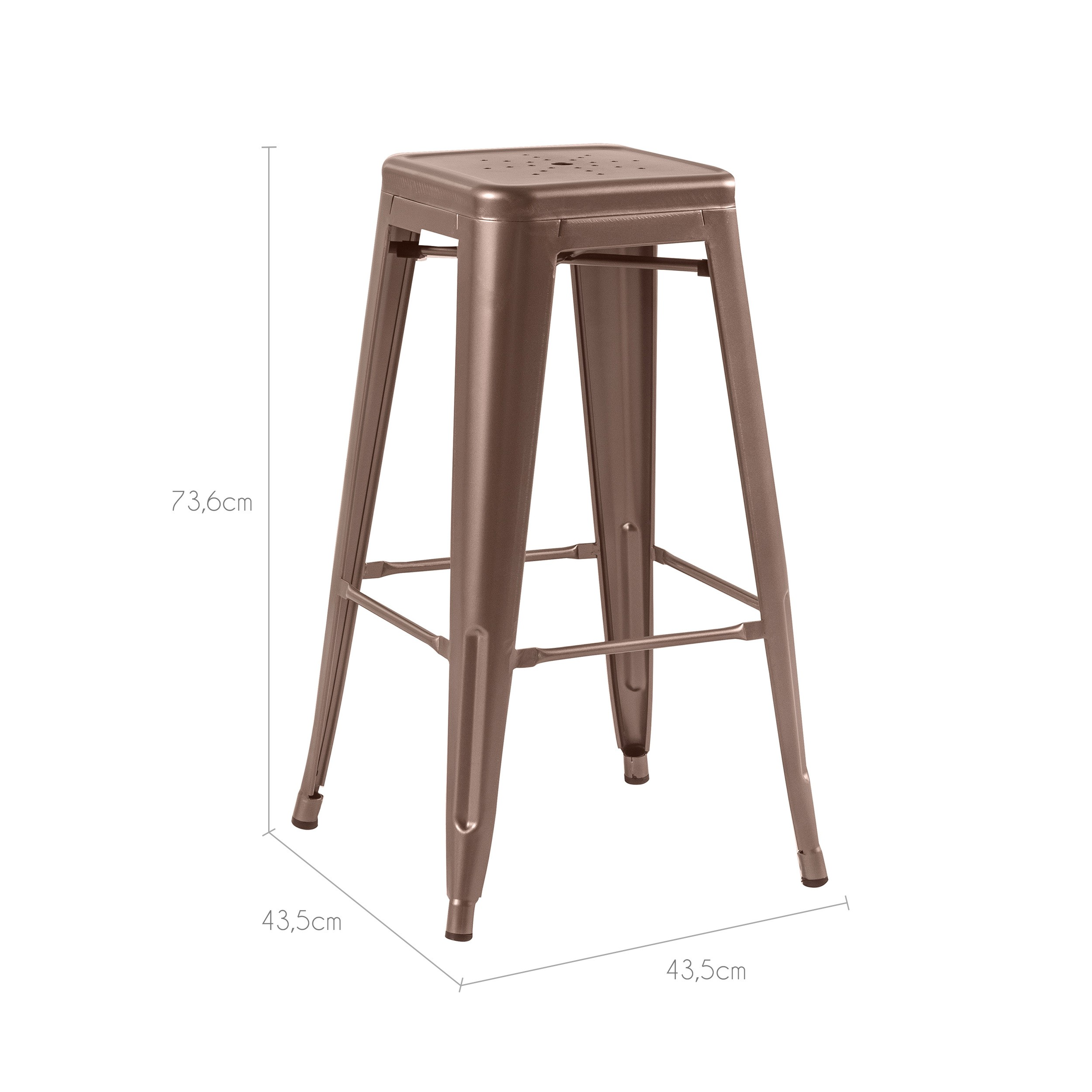 tabouret de bar indus cuivre lot de 2 d couvrez nos tabourets de bar indus cuivre rdv d co. Black Bedroom Furniture Sets. Home Design Ideas