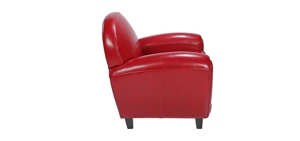 fauteuil club rouge choisissez nos fauteuils club en cuir rdv d co. Black Bedroom Furniture Sets. Home Design Ideas