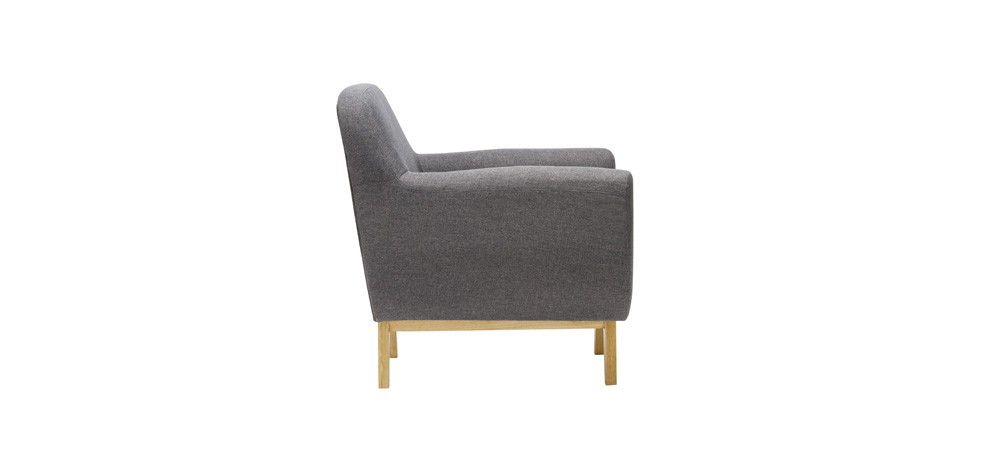 fauteuil copenhague gris adoptez nos fauteuils. Black Bedroom Furniture Sets. Home Design Ideas