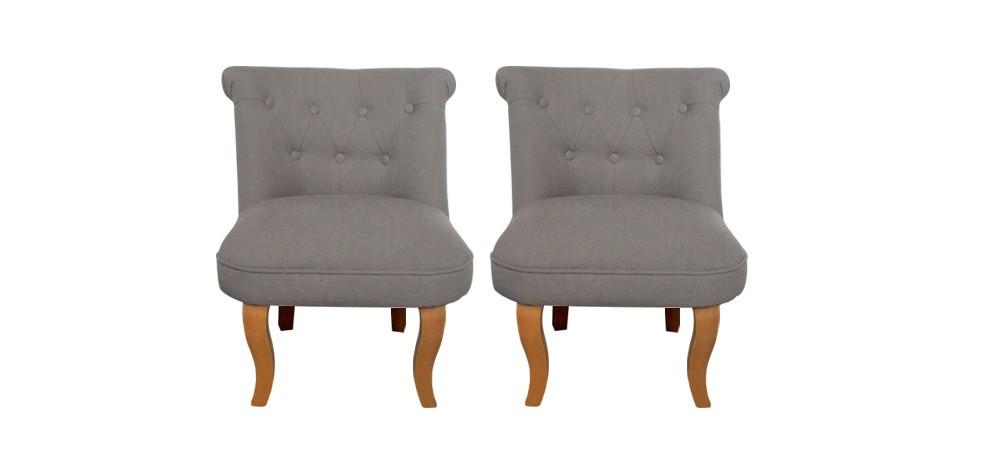 fauteuil crapaud lin taupe lot de 2 achetez nos lots de 2 fauteuils crapaud en lin taupe rdv. Black Bedroom Furniture Sets. Home Design Ideas