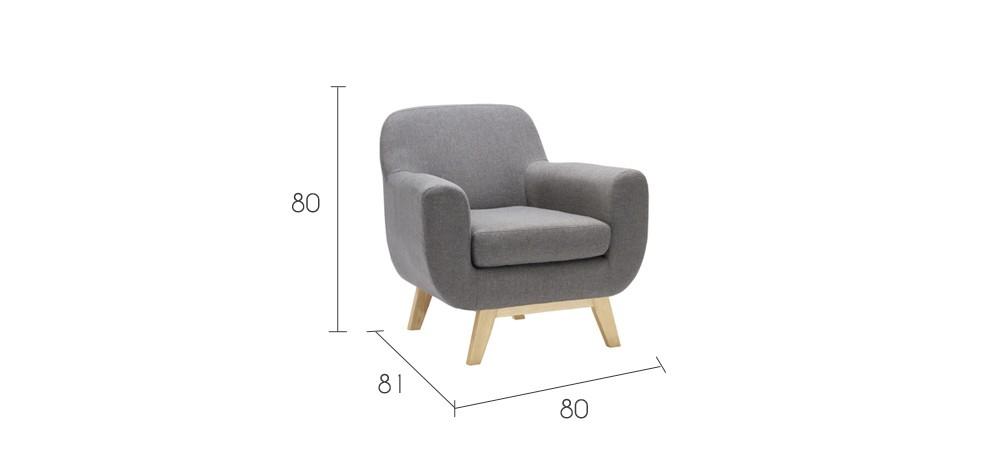 Fauteuil Copenhague gris adoptez nos fauteuils Copenhague gris