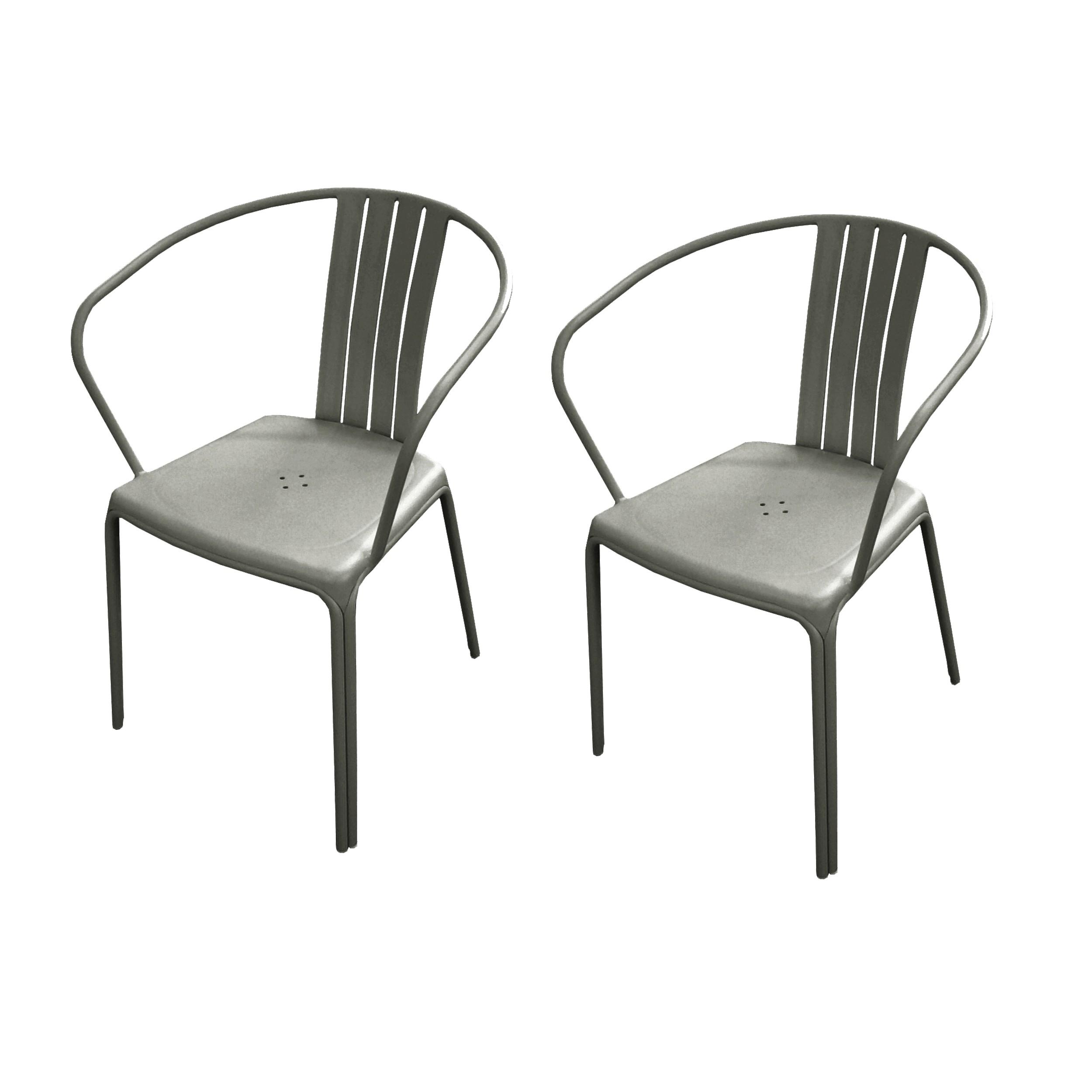 fauteuil jardin azuro taupe