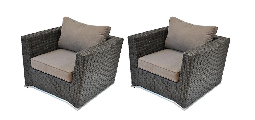 Fauteuil malaga marron lot de 2 asseyez vous dans nos fauteuils malaga ma - Fauteuil jardin resine ...