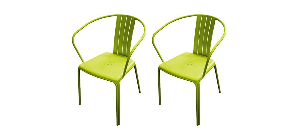 fauteuil de jardin azuro vert lot de 2 adoptez nos fauteuils de jardin azuro verts design. Black Bedroom Furniture Sets. Home Design Ideas