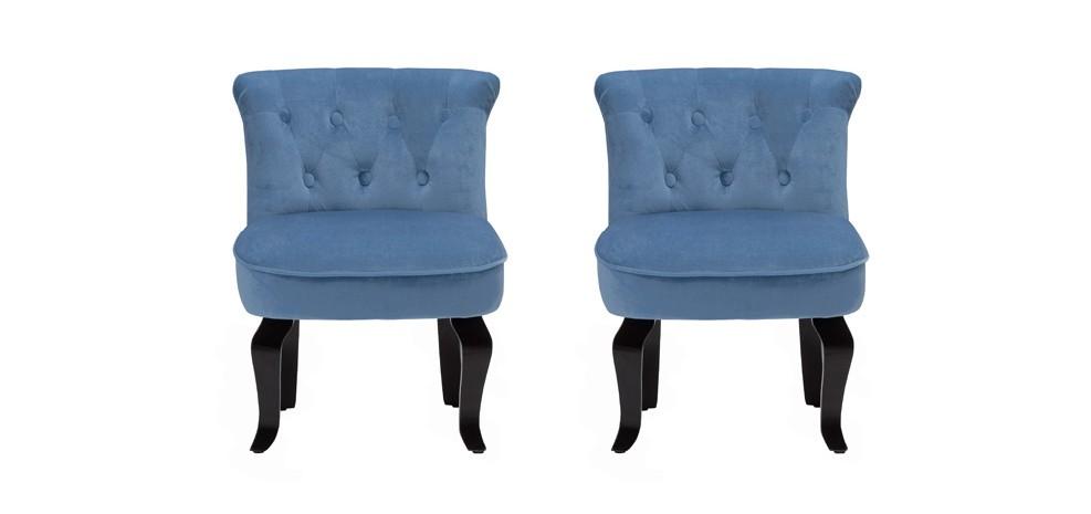 fauteuil crapaud bleu lot de 2 testez nos fauteuils crapaud bleus vendus par 2 rdv d co. Black Bedroom Furniture Sets. Home Design Ideas