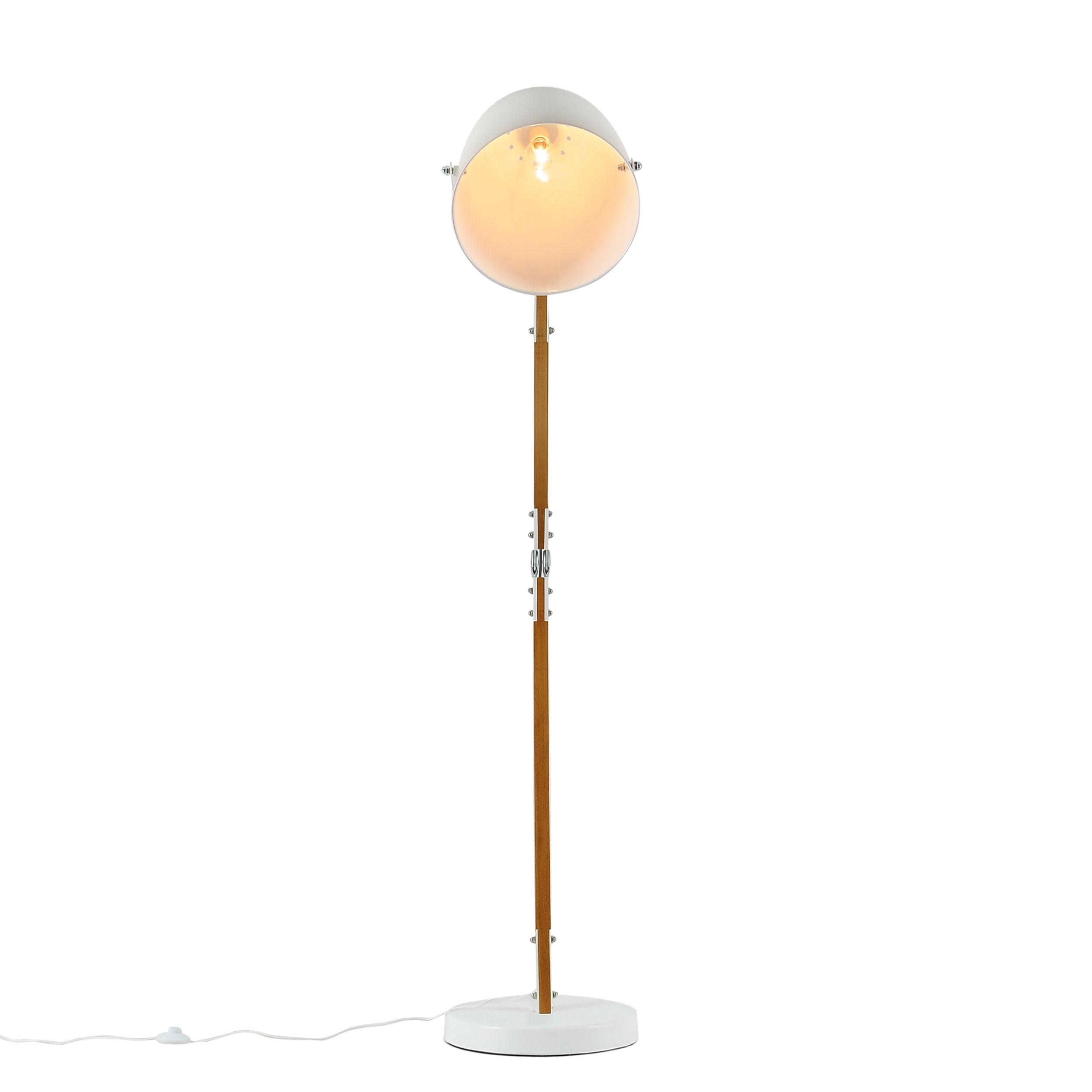 Lampadaire blanc design lampadaire bois blanc hcm owalo - Lampadaire bois blanc ...