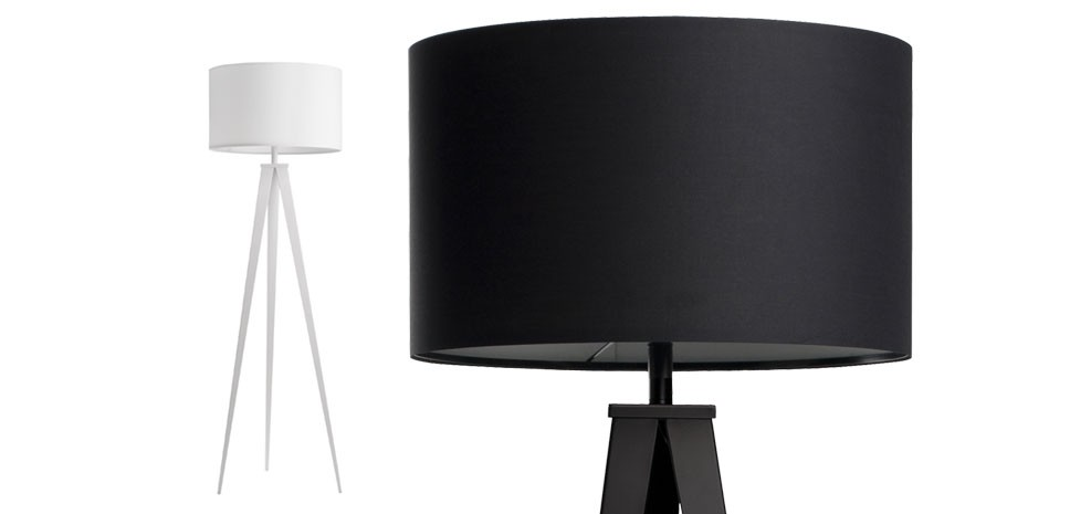 lampadaire tr pied blanc achetez nos lampadaires tr pied. Black Bedroom Furniture Sets. Home Design Ideas
