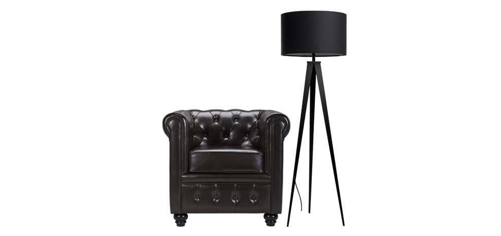 lampadaire tr pied noir commandez nos lampadaires. Black Bedroom Furniture Sets. Home Design Ideas