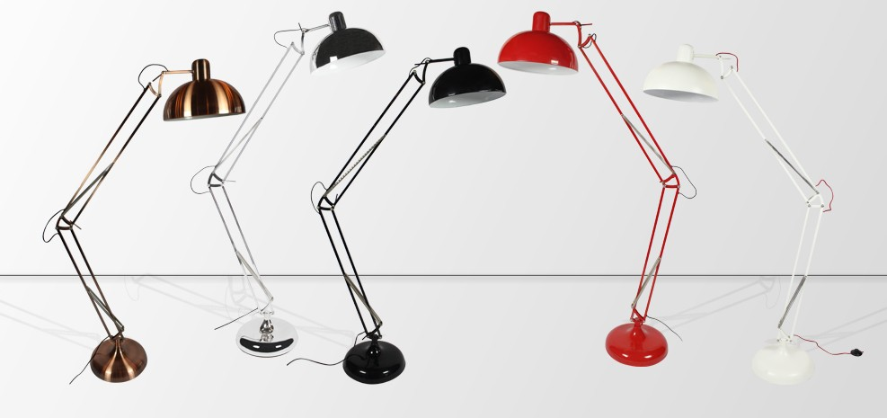 lampe architecte g ante chrom e lampadaire prix usine rdv d co. Black Bedroom Furniture Sets. Home Design Ideas