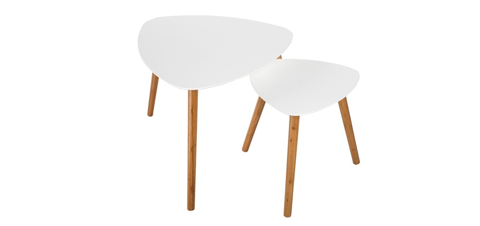 Table basse scandinave blanche lot de 2 achetez nos tables basses scandin - Tables basses pas cheres ...