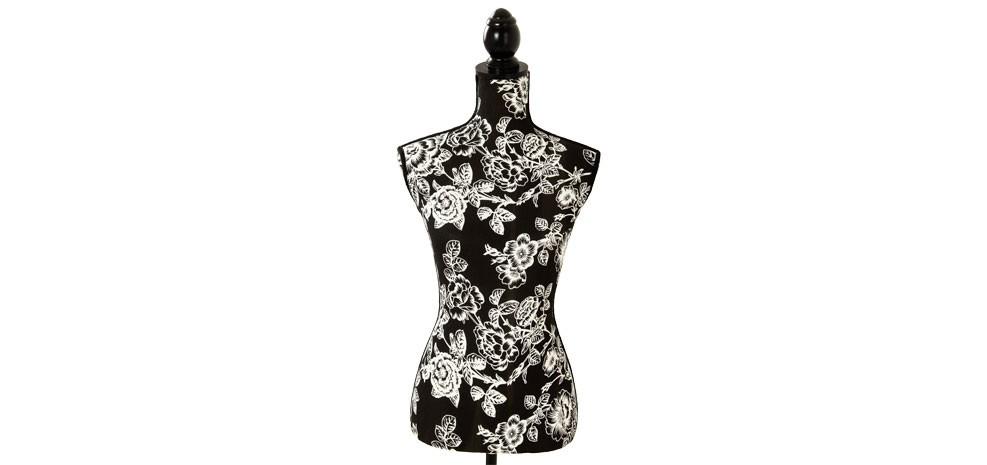 mannequin couture black roses commandez nos mannequins. Black Bedroom Furniture Sets. Home Design Ideas