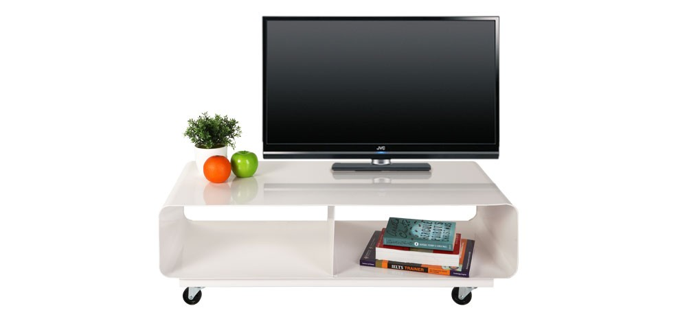 meuble tv en acier achetez nos meubles tv en acier rdv d co. Black Bedroom Furniture Sets. Home Design Ideas