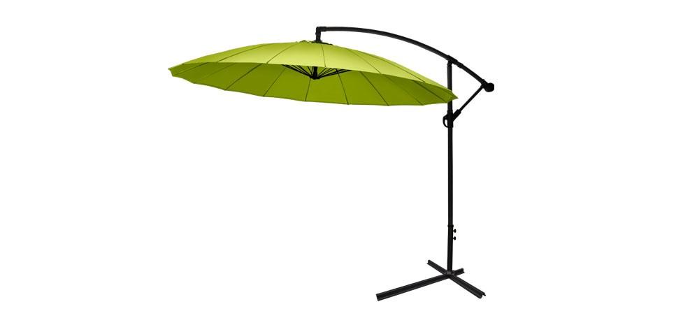 Parasol vert commandez nos parasols verts design petit - Parasol deporte vert anis ...
