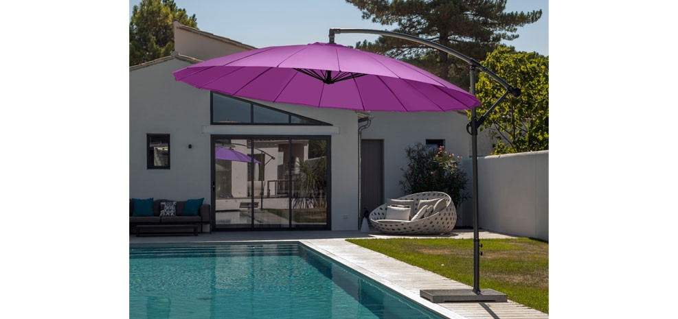 parasol rond d couvrez nos parasols ronds design prix. Black Bedroom Furniture Sets. Home Design Ideas
