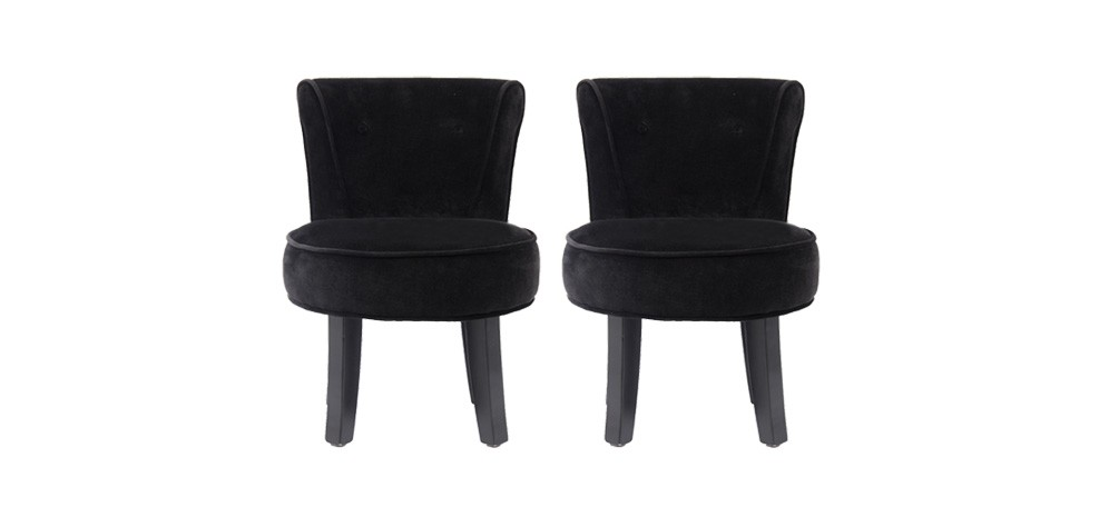 petit fauteuil crapaud noir lot de 2 achetez nos. Black Bedroom Furniture Sets. Home Design Ideas