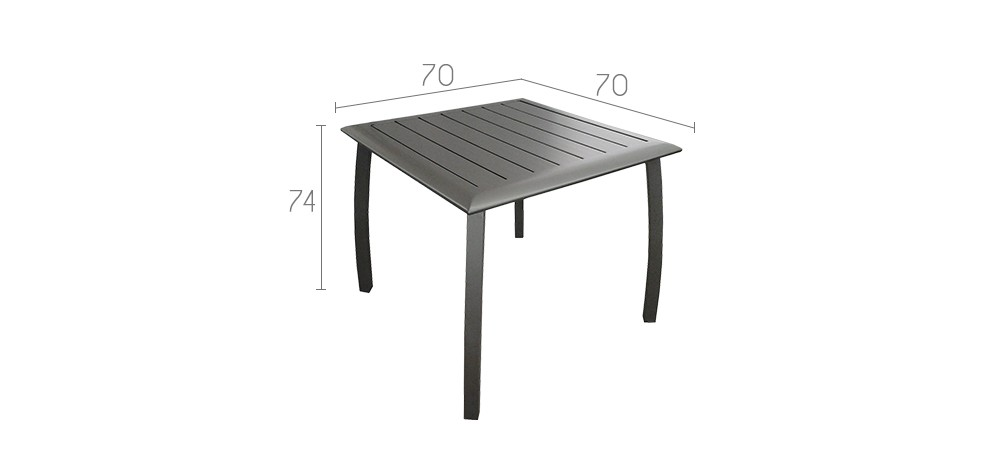 table de jardin carr e 70 cm livourne grise achetez nos tables de jardin carr es 70 cm. Black Bedroom Furniture Sets. Home Design Ideas