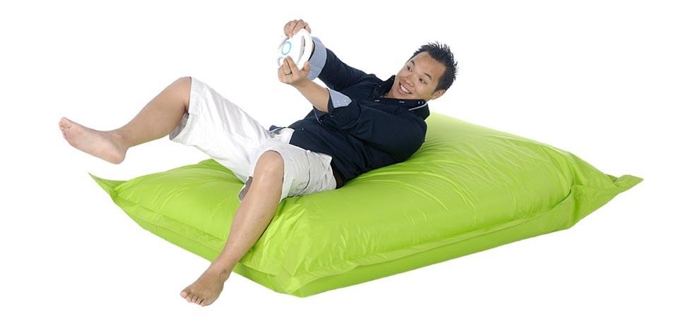 pouf g ant vert anis un pouf g ant a prix usine rdv deco. Black Bedroom Furniture Sets. Home Design Ideas
