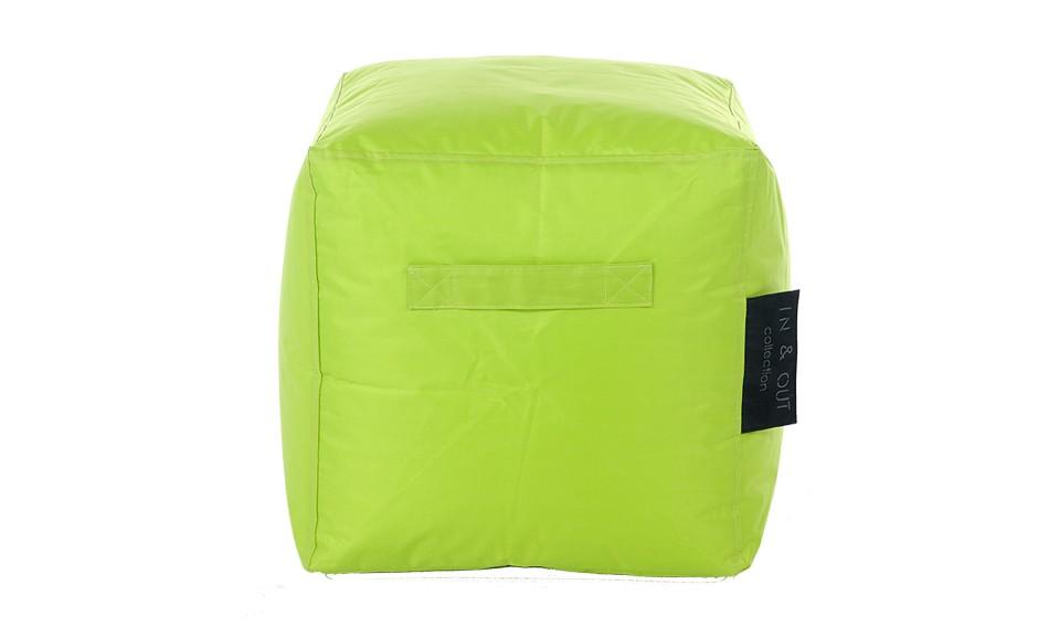 pouf carr in out vert anis d couvrez nos poufs verts rendez vous d co. Black Bedroom Furniture Sets. Home Design Ideas