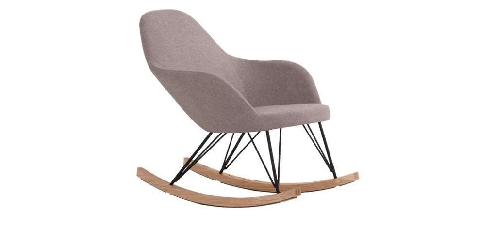 rocking chair malibu taupe adoptez nos fauteuils bascule taupe petit prix rdv d co. Black Bedroom Furniture Sets. Home Design Ideas