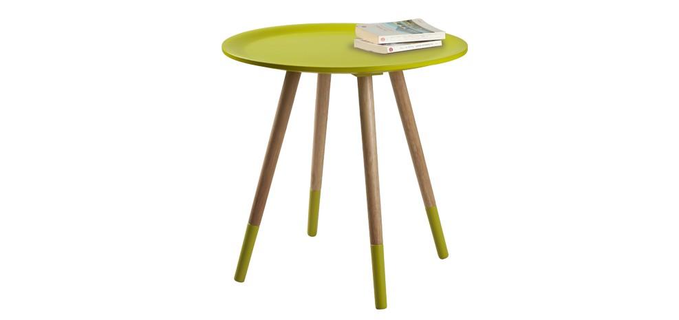 table basse art jaune bois vente