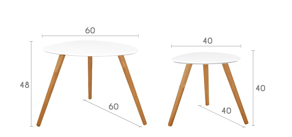 table basse wald blanche lot de 2 achetez nos tables. Black Bedroom Furniture Sets. Home Design Ideas