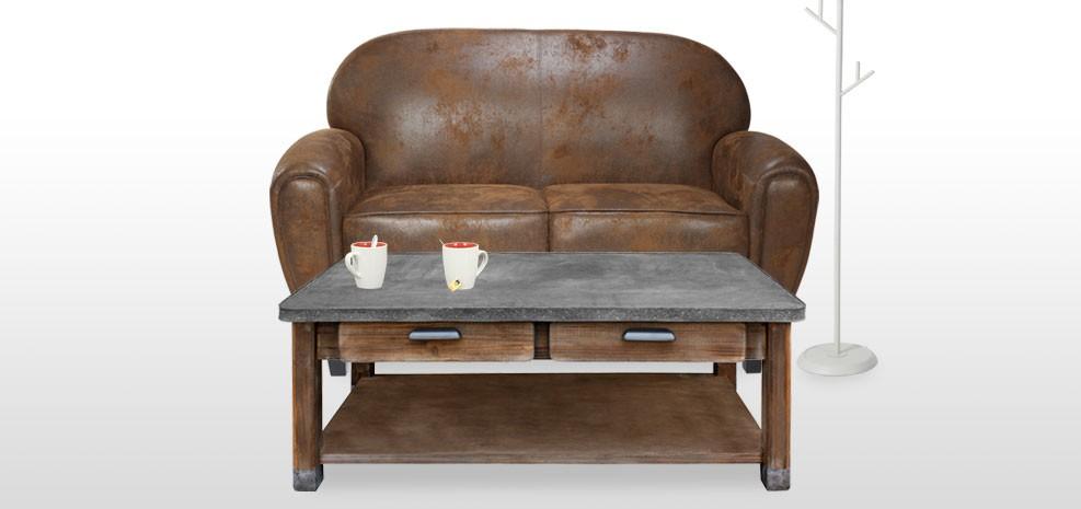 Table basse en zinc achetez nos tables basses en zinc design rdvd co - Table basse petit prix ...