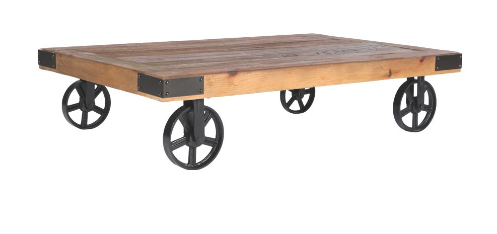 Table basse roulettes achetez nos tables basses - Table basse a roulette ...