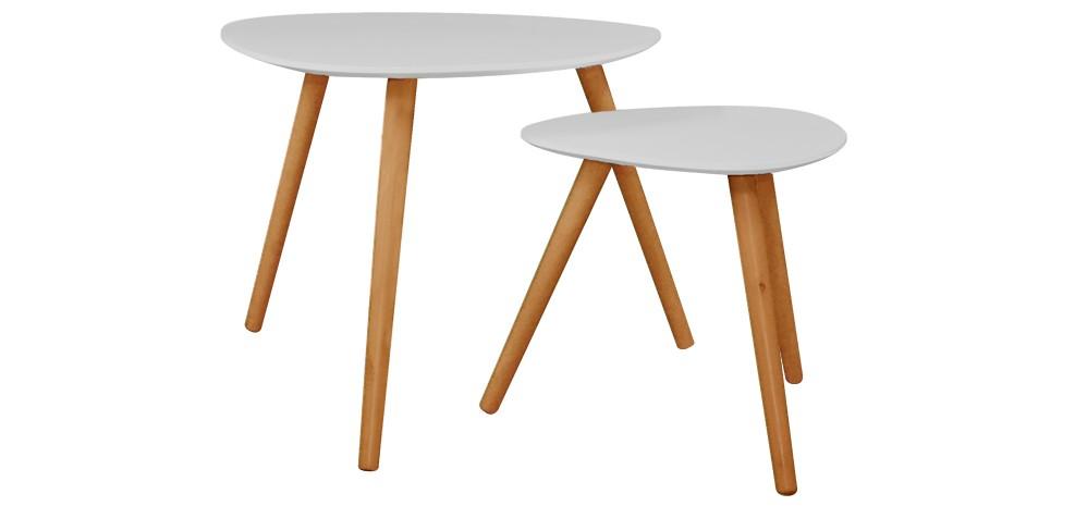 Table basse wald grise lot de 2 choisissez nos tables basses wald grises - Table basse petit prix ...