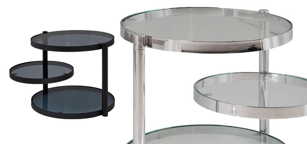 Table de salon ronde achetez nos tables de salon rondes for Table basse plateau pivotant