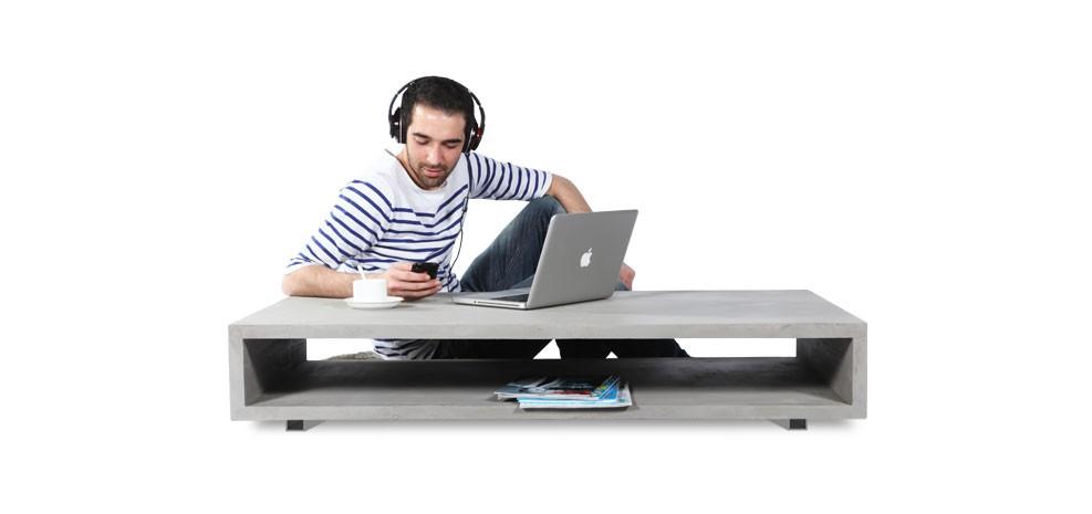 table basse rectangulaire b ton achetez nos tables basses b ton rdvd co. Black Bedroom Furniture Sets. Home Design Ideas