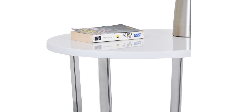 table glossy blanche achetez nos tables glossy blanches design rdv d co. Black Bedroom Furniture Sets. Home Design Ideas