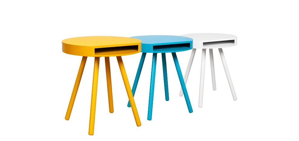 Table jaune avec rangement commandez nos tables jaunes for Table ronde pas cher occasion