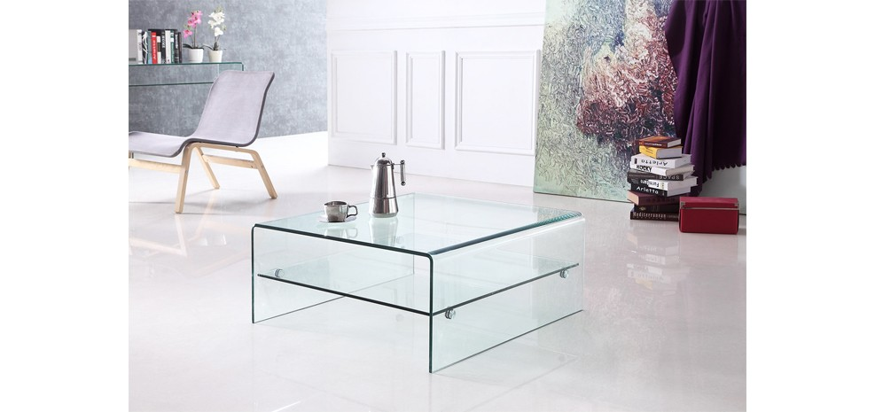Table basse carr e pure choisissez nos tables basses - Table carree en verre ...