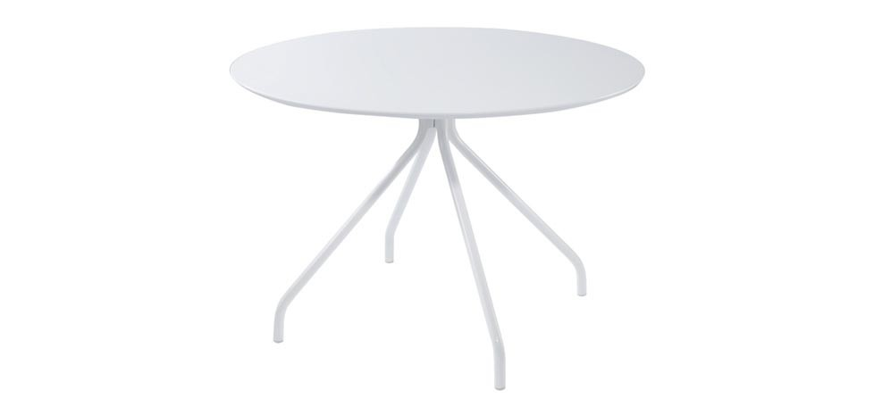 table ronde laqu e blanche fondez pour nos tables blanches rdv d co. Black Bedroom Furniture Sets. Home Design Ideas
