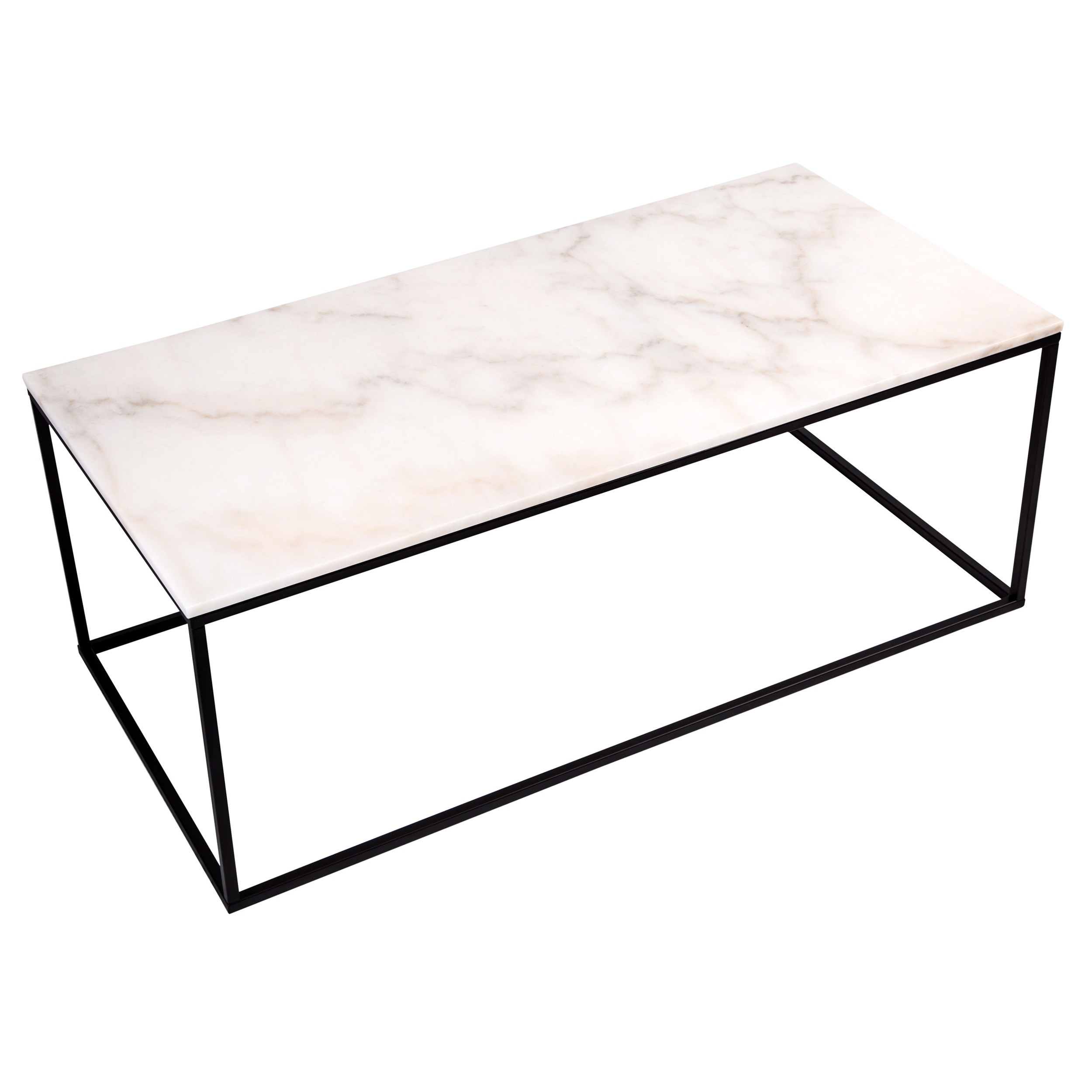 table basse rectangulaire dagmar marbre blanche. Black Bedroom Furniture Sets. Home Design Ideas