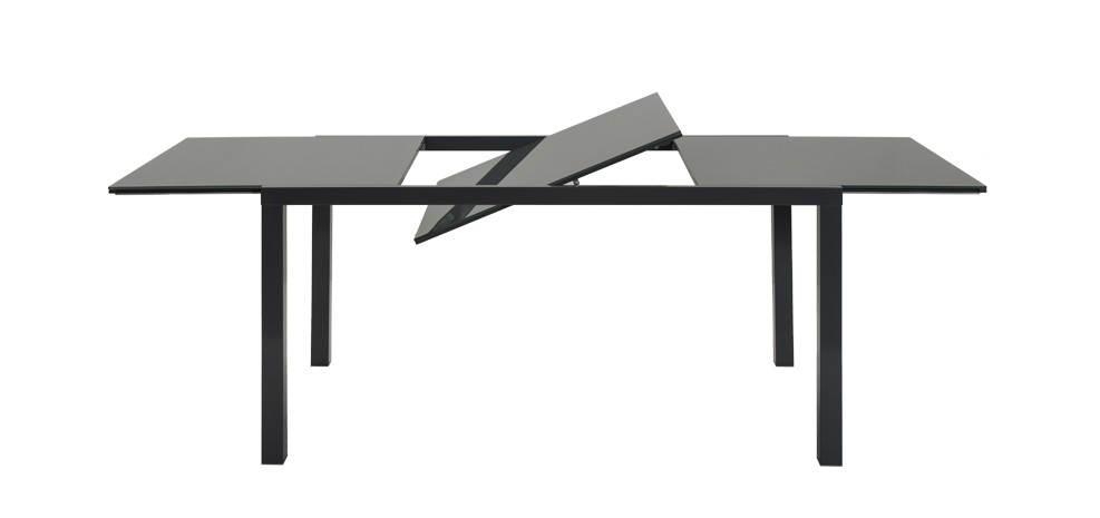 table rectangulaire extensible grise en verre commandez nos tables rectangulaires grises en. Black Bedroom Furniture Sets. Home Design Ideas