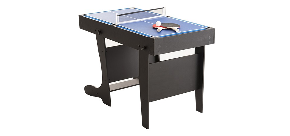 table multi jeux pliable noir babyfoots. Black Bedroom Furniture Sets. Home Design Ideas