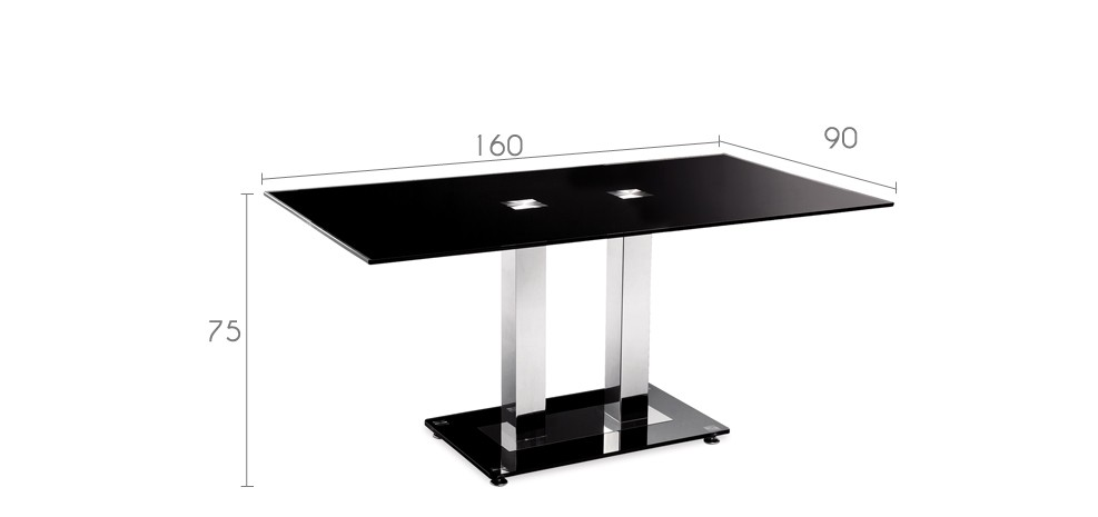 table en verre noir futura achetez nos tables en verre. Black Bedroom Furniture Sets. Home Design Ideas